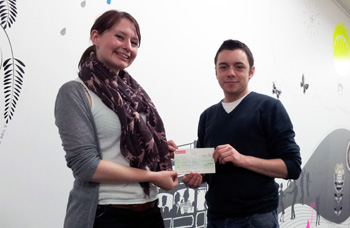 Cheque For JDRF